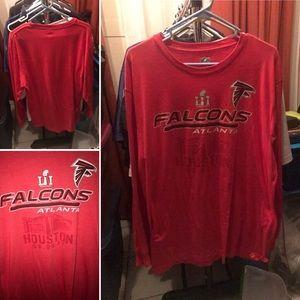 Atlanta Falcons Long Sleeve Sz L Super Bowl Shirt